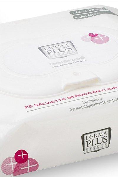 Dettaglio packaging salviette struccanti Dermaplus