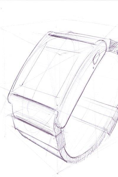 Disegno prototipo I'm Watch