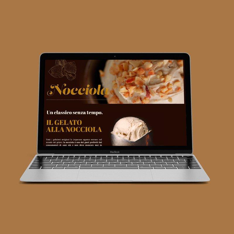 Computer con schermata sito web Nocciola