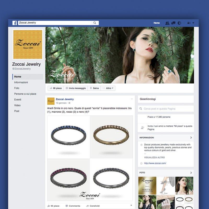Panoramica pagina Facebook Zoccai