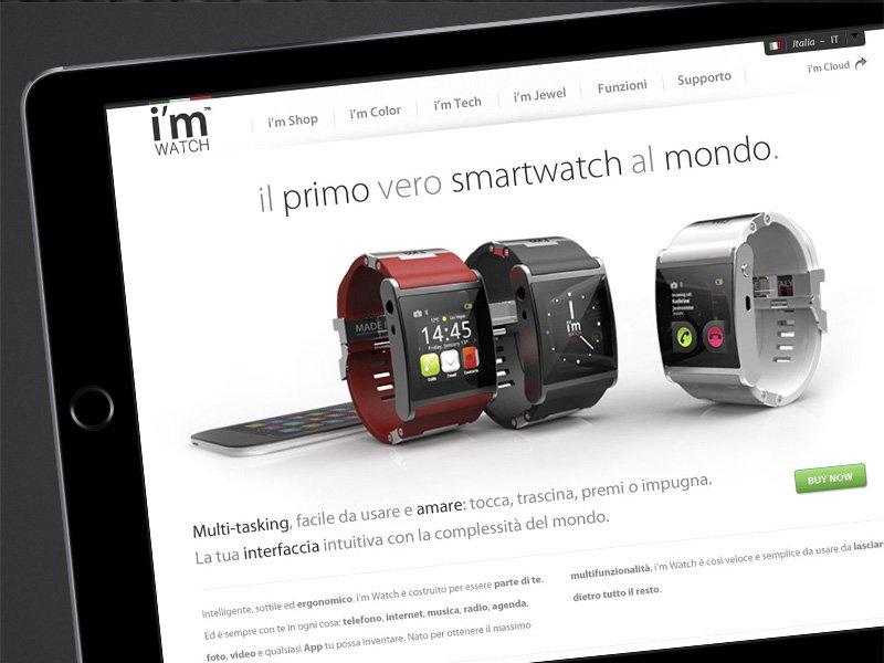 Schermata sito web I'm Watch